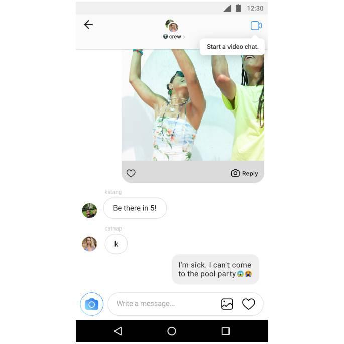 В instagram появятся голосовые звонки и видеосвязь