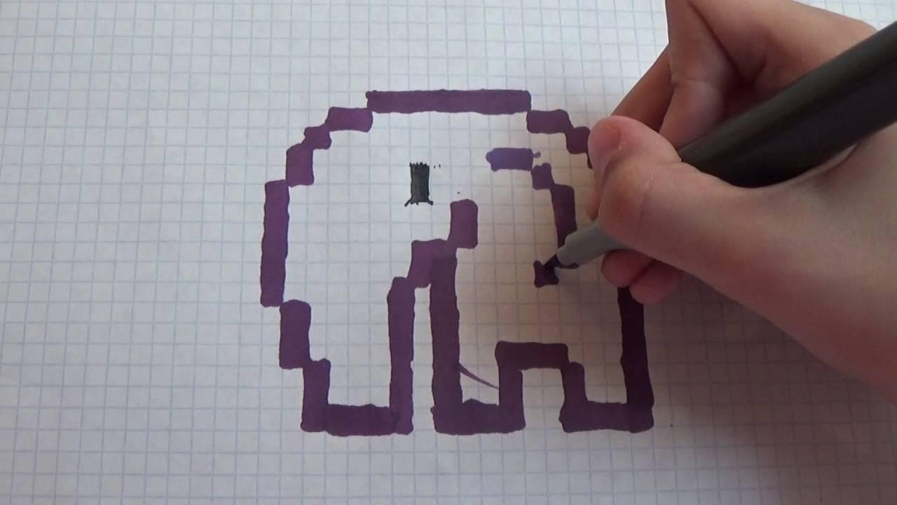 Рисунки по клеточкам в тетради - как нарисовать красивые и легкие рисунки по клеточкам