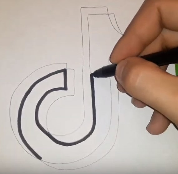 Как нарисовать тик ток по клеточкам: карандашом, поэтапно | tktk-wiki