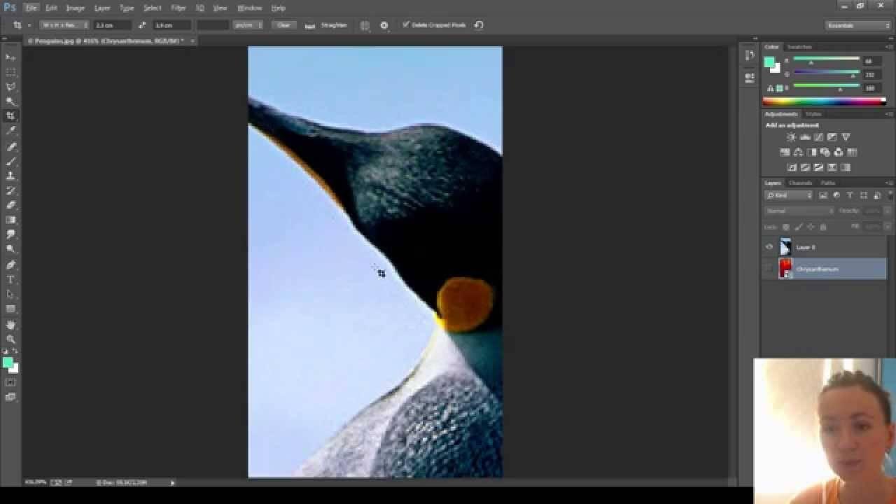 Как обрезать фото в gimp
