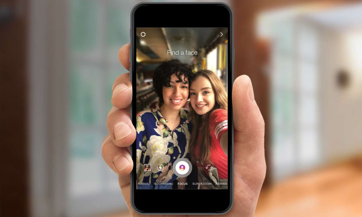 В instagram появился портретный режим боке с размытием фона