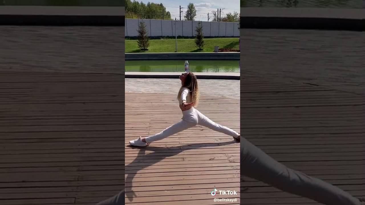 «случайно порвала штаны». посмотрите на 17-летнюю белоруску, которая шпагатами удивляет tiktok