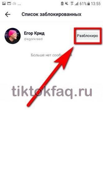 Как разблокировать в тиктоке человека: как заблокировать пользователя навсегда