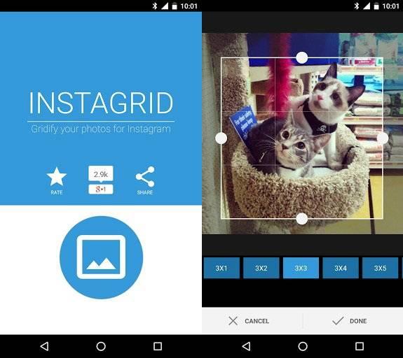 Сервисы и приложения для разделения фото на части в инстаграм