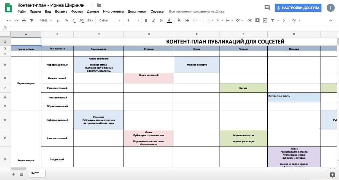 Как сделать контент-план за 5 минут на месяцы вперед