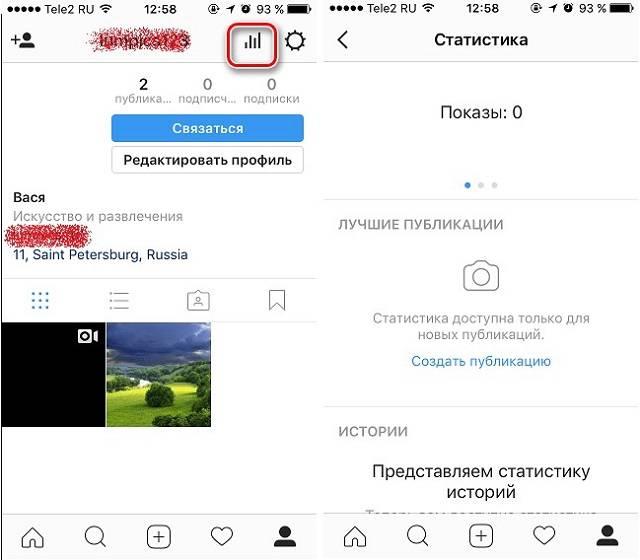 Инструменты статистики в instagram